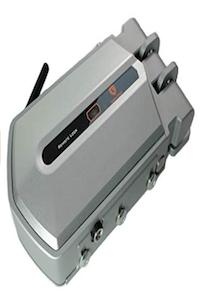 Golden Shield 4+1- Cerradura electrónica de seguridad invisible con 4 mandos mas 1 mando generador de códigos color plata