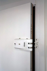 Remock RLP4W Lockey Pro - Cerradura de seguridad invisible con 4 mandos (3 V) color blanco